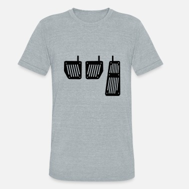 Pedal Three Pedals JDM Car Drift Shirt - Unisex Tri-Blend T-Shirt