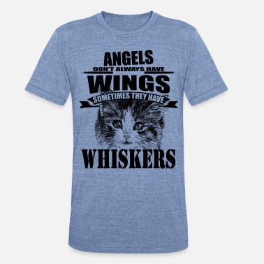 Armed Cat Angel with Whiskers T-shirt, Cats love shirt - Unisex Tri-Blend T-Shirt
