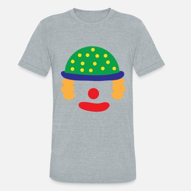 Shrovetide Clown fairing Carnival - Unisex Tri-Blend T-Shirt