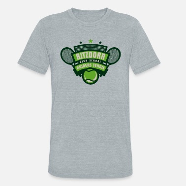 RITZDORN HIGH SCHOOL RAIDERS TENNIS - Unisex Tri-Blend T-Shirt