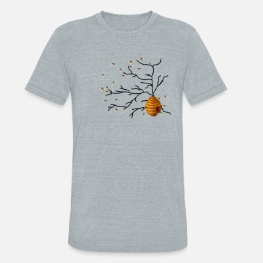Honey Honey Bees - Unisex Tri-Blend T-Shirt