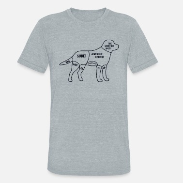 Pug Life Dog's body - Unisex Tri-Blend T-Shirt