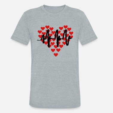 Infarto heart beat - Unisex Tri-Blend T-Shirt