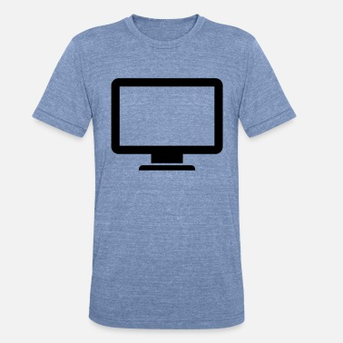 Monitoring computer monitor icon present - Unisex Tri-Blend T-Shirt