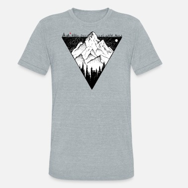 Peak Mountain - Unisex Tri-Blend T-Shirt