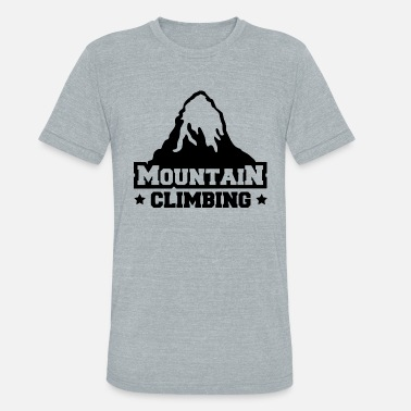 Clilmber mountain - Unisex Tri-Blend T-Shirt