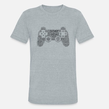 Gamepad GamePad WordArt - Unisex Tri-Blend T-Shirt