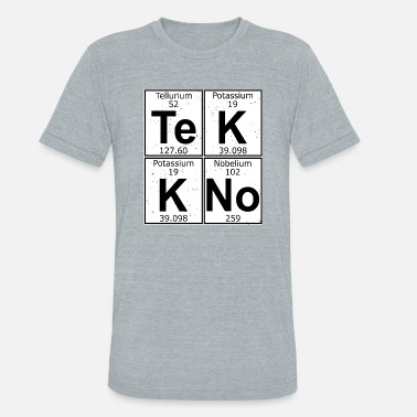 Tekkno Tekkno logo chemical elements - Unisex Tri-Blend T-Shirt