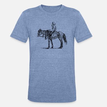 Equitation reiten riding pferde horse knight reiter rider5 - Unisex Tri-Blend T-Shirt