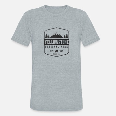 National Park Yellowstone National Park - Unisex Tri-Blend T-Shirt