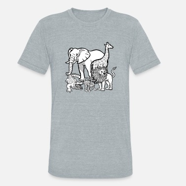 Zoo Animal zoo animals - Unisex Tri-Blend T-Shirt