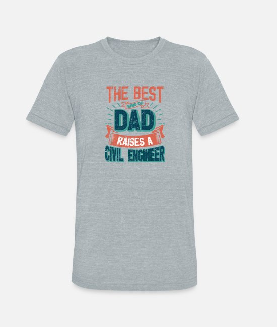 Father's Day T-Shirts - This Great Gifts For Dad From Daughter - The Best - Unisex Tri-Blend T-Shirt heather gray
