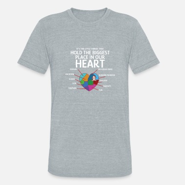 Cute Hearts Mothers Day Mom Mother Heart Love Child - Unisex Tri-Blend T-Shirt