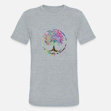 Tree Tree of Life - Unisex Tri-Blend T-Shirt