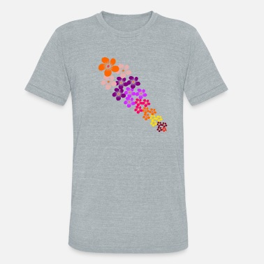Tendril Pattern colorful flowers tendril, blooming flower, blooms - Unisex Tri-Blend T-Shirt
