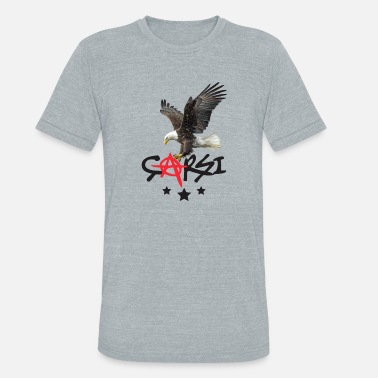 Black Lig Besiktas 1903 Carsi Eagle - Unisex Tri-Blend T-Shirt