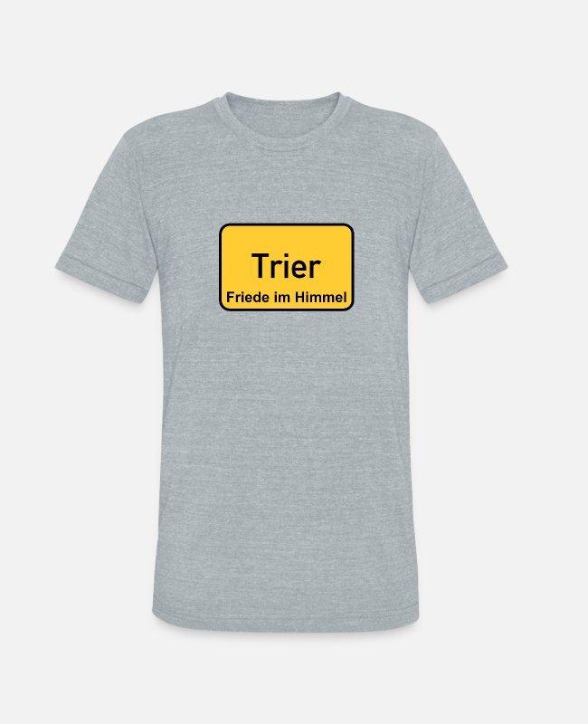 Cologne Cathedral T-Shirts - Trier - Unisex Tri-Blend T-Shirt heather gray