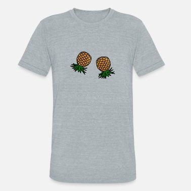 Upside Swinger Pineapples - Unisex Tri-Blend T-Shirt