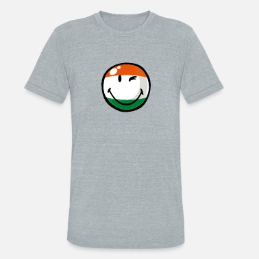 Indian Flag SmileyWorld Indian Flag Smiley - Unisex Tri-Blend T-Shirt