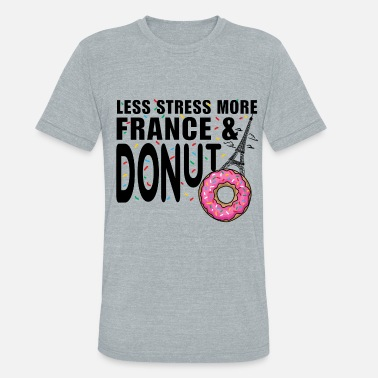 France Paris France Eiffel Tower City Donut - Unisex Tri-Blend T-Shirt