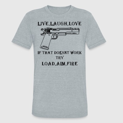 LIVE,LAUGH,LOVE - Unisex Tri-Blend T-Shirt by American Apparel