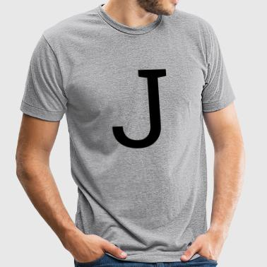 Letter J - Unisex Tri-Blend T-Shirt by American Apparel