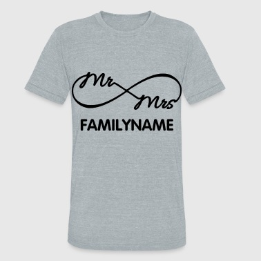 Groom Infinity Mr. and Mrs. - Unisex Tri-Blend T-Shirt