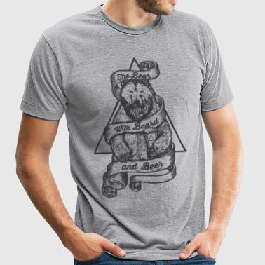 Beard Beer Bear Shirt - Unisex Tri-Blend T-Shirt