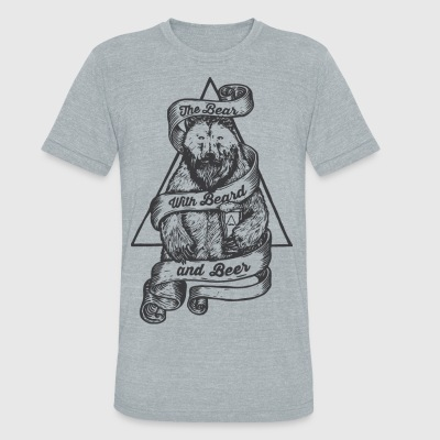 Beard Beer Bear Shirt - Unisex Tri-Blend T-Shirt by American Apparel