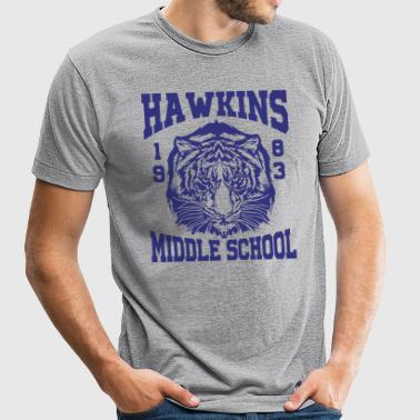 Hawkins Middle School 1983 Tiger - Unisex Tri-Blend T-Shirt by American Apparel