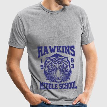 Hawkins Middle School 1983 Tiger - Unisex Tri-Blend T-Shirt