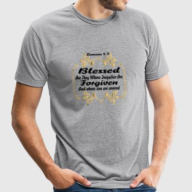 Blessed and Forgiven - Unisex Tri-Blend T-Shirt by American Apparel