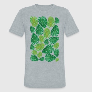 Monstera Leaf-TSHIRT - Unisex Tri-Blend T-Shirt by American Apparel