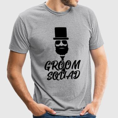 Groom Squad Bachelor Party Shirt Men - Unisex Tri-Blend T-Shirt