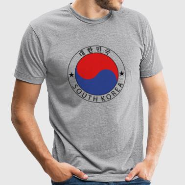 South Korea Design - Unisex Tri-Blend T-Shirt by American Apparel