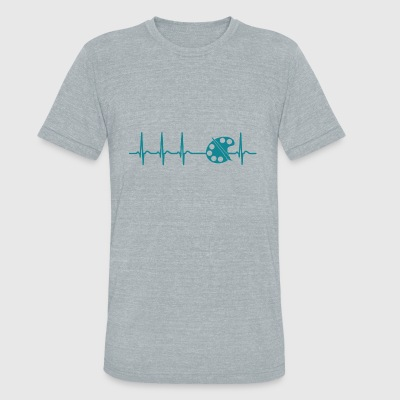 Heartbeat Painter Artist Drawing Illustration Gift - Unisex Tri-Blend T-Shirt by American Apparel