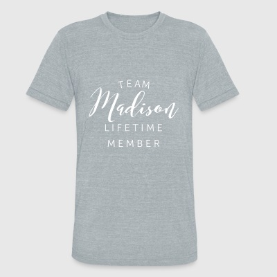 Team Madison lifetime member - Unisex Tri-Blend T-Shirt by American Apparel