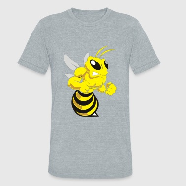 Bee Angry Funny Animal - Unisex Tri-Blend T-Shirt