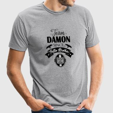 Team Damon Since Hello Brother - Unisex Tri-Blend T-Shirt by American Apparel