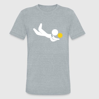 A Volleyball Player Jumps For The Ball - Unisex Tri-Blend T-Shirt