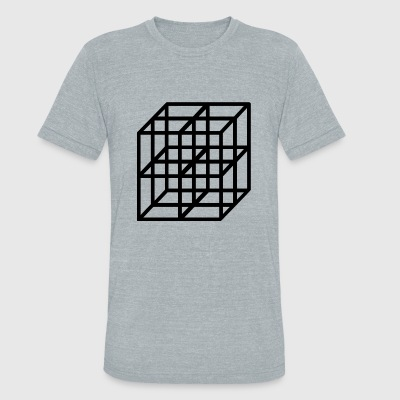 cubes - Unisex Tri-Blend T-Shirt by American Apparel