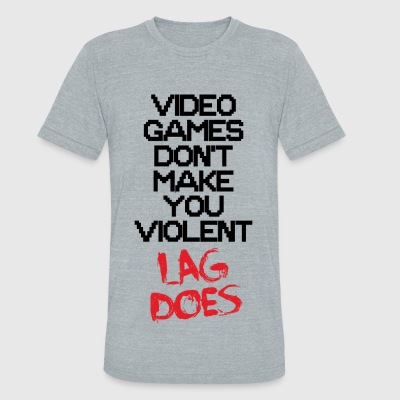 Video game - Lag - Unisex Tri-Blend T-Shirt by American Apparel