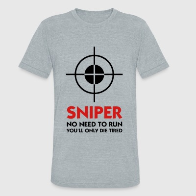 Sniper - Sniper No Need To Run - Unisex Tri-Blend T-Shirt by American Apparel