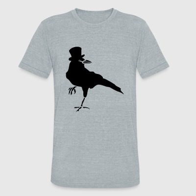 Bird - HELLO MISTER CROW - Unisex Tri-Blend T-Shirt by American Apparel