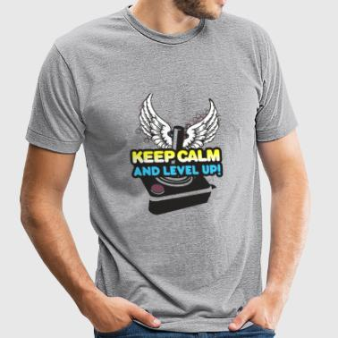 Gamer - Keep Calm and Level Up! - Unisex Tri-Blend T-Shirt by American Apparel
