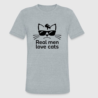 Cat - Real Men Love Cats - Unisex Tri-Blend T-Shirt by American Apparel