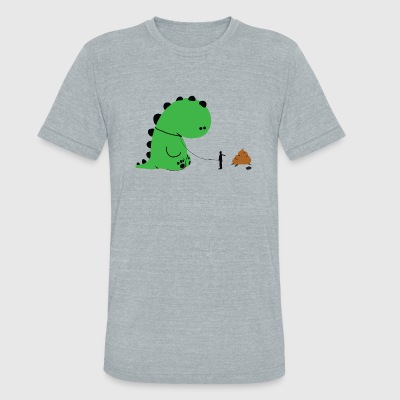 Dino - Dino Shit - Unisex Tri-Blend T-Shirt by American Apparel