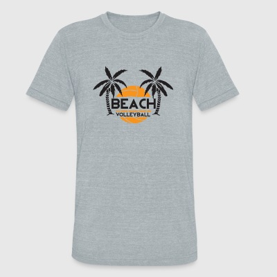 Volleyball - Beach volleyball - Unisex Tri-Blend T-Shirt by American Apparel