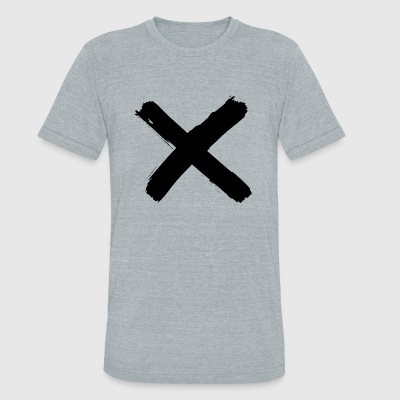 X - X - Unisex Tri-Blend T-Shirt by American Apparel