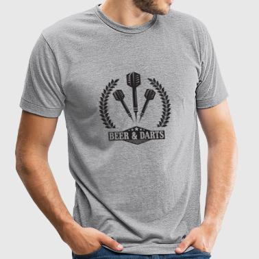 Dart - Beer - Unisex Tri-Blend T-Shirt by American Apparel